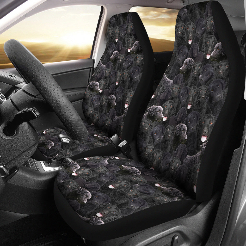 Curly Coated Retriever Full Face Car Seat Covers