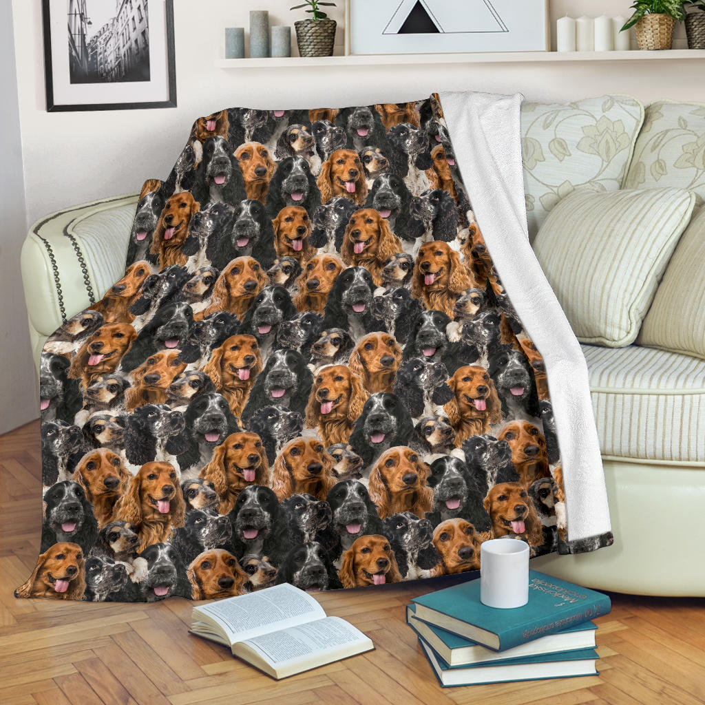 English Cocker Spaniel 1 Full Face Blanket