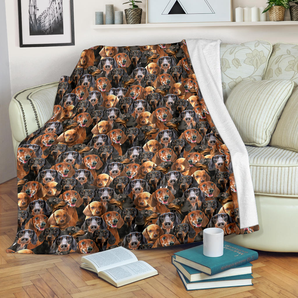 Dachshund Full Face Blanket