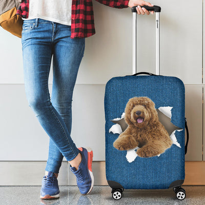 Labradoodle Torn Paper Luggage Covers