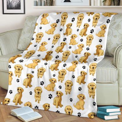 Golden Retriever Paw Blanket