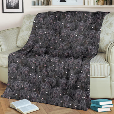 Black Russian Terrier Full Face Blanket