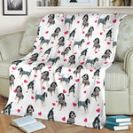Bluetick Coonhound Heart Blanket