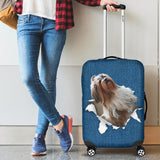 Shih Tzu Torn Paper Luggage Covers