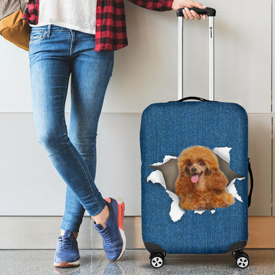 Poodle Torn Paper Luggage Covers
