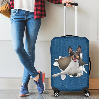 Fox Terrier Torn Paper Luggage Covers