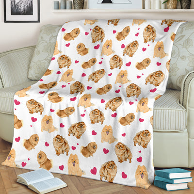 German Spitz Heart Blanket