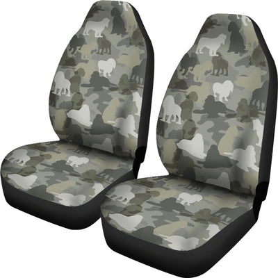 Cocker Spaniel Camo Car Seat Covers