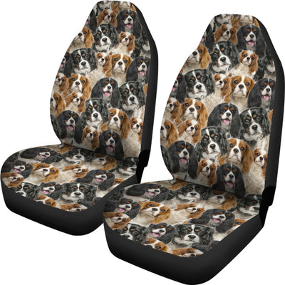Cavalier King Charles Spaniel Full Face Car Seat Covers