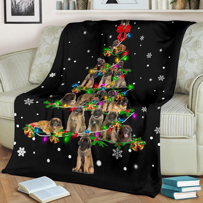 Leonberger Christmas Tree Blanket