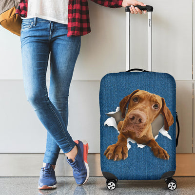 Vizsla Torn Paper Luggage Covers