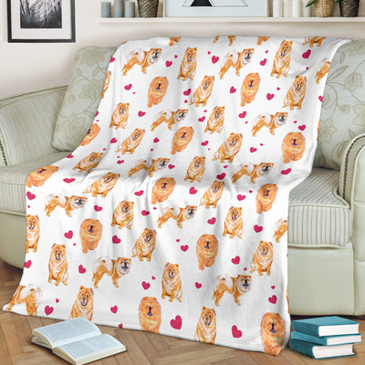 Chow Chow Heart Blanket