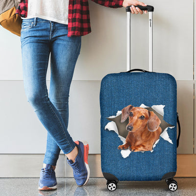 Dachshund Torn Paper Luggage Covers