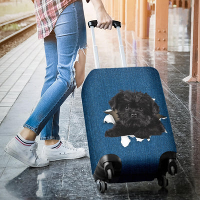 Affenpinscher Torn Paper Luggage Covers