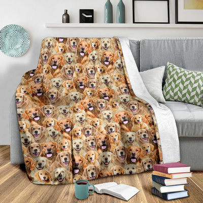 Golden Retriever Full Face Blanket