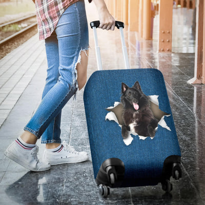 Groenendael dog Torn Paper Luggage Covers