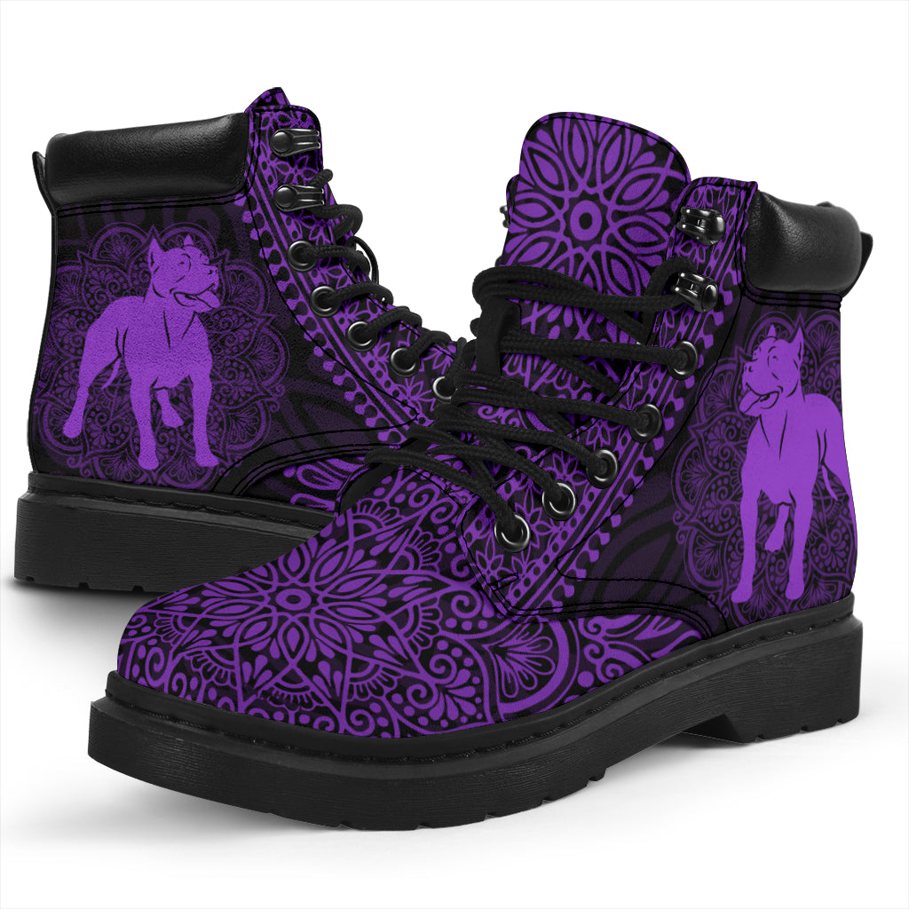American Staffordshire Terrier Mandala All-Season Boots