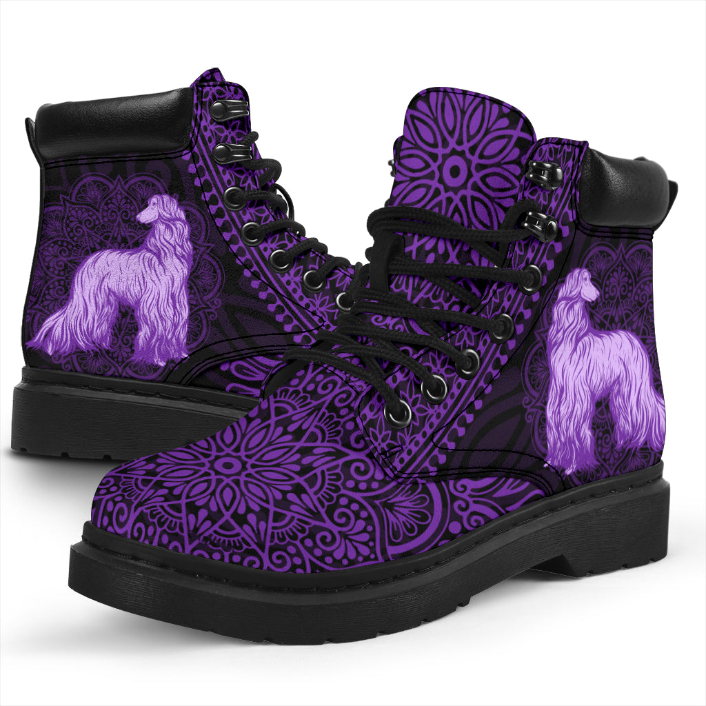 Afghan Hound Mandala All-Season Boots