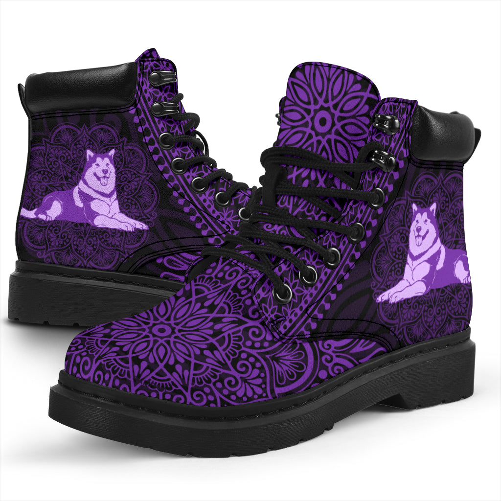 Alaskan Dog Mandala All-Season Boots