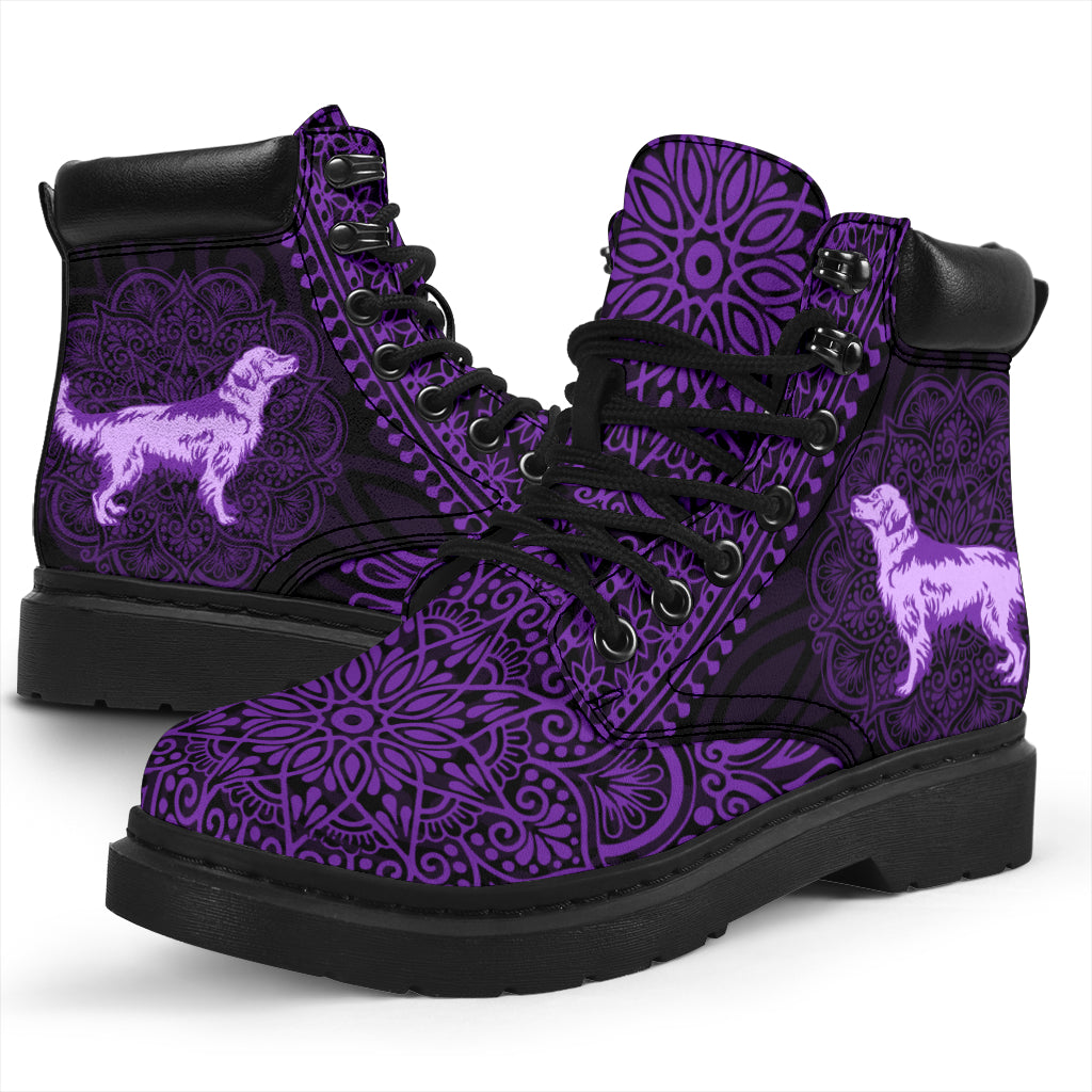 Golden Retriever Mandala All-Season Boots