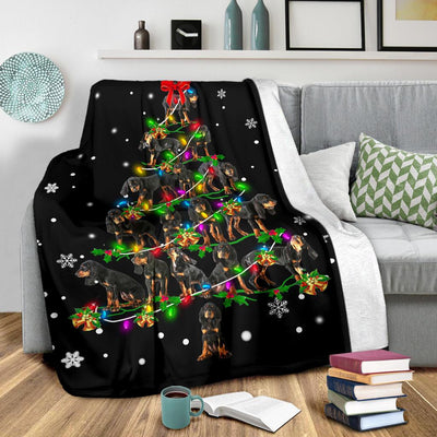 Black and Tan Coonhound Christmas Tree
