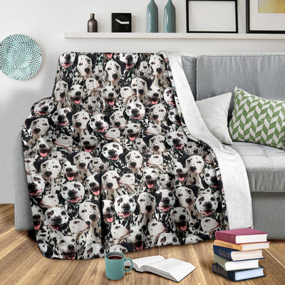 Dalmatian Full Face Blanket