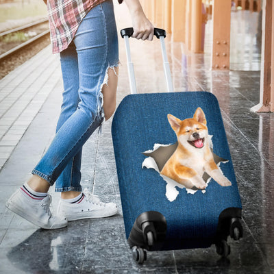 Akita Torn Paper Luggage Covers