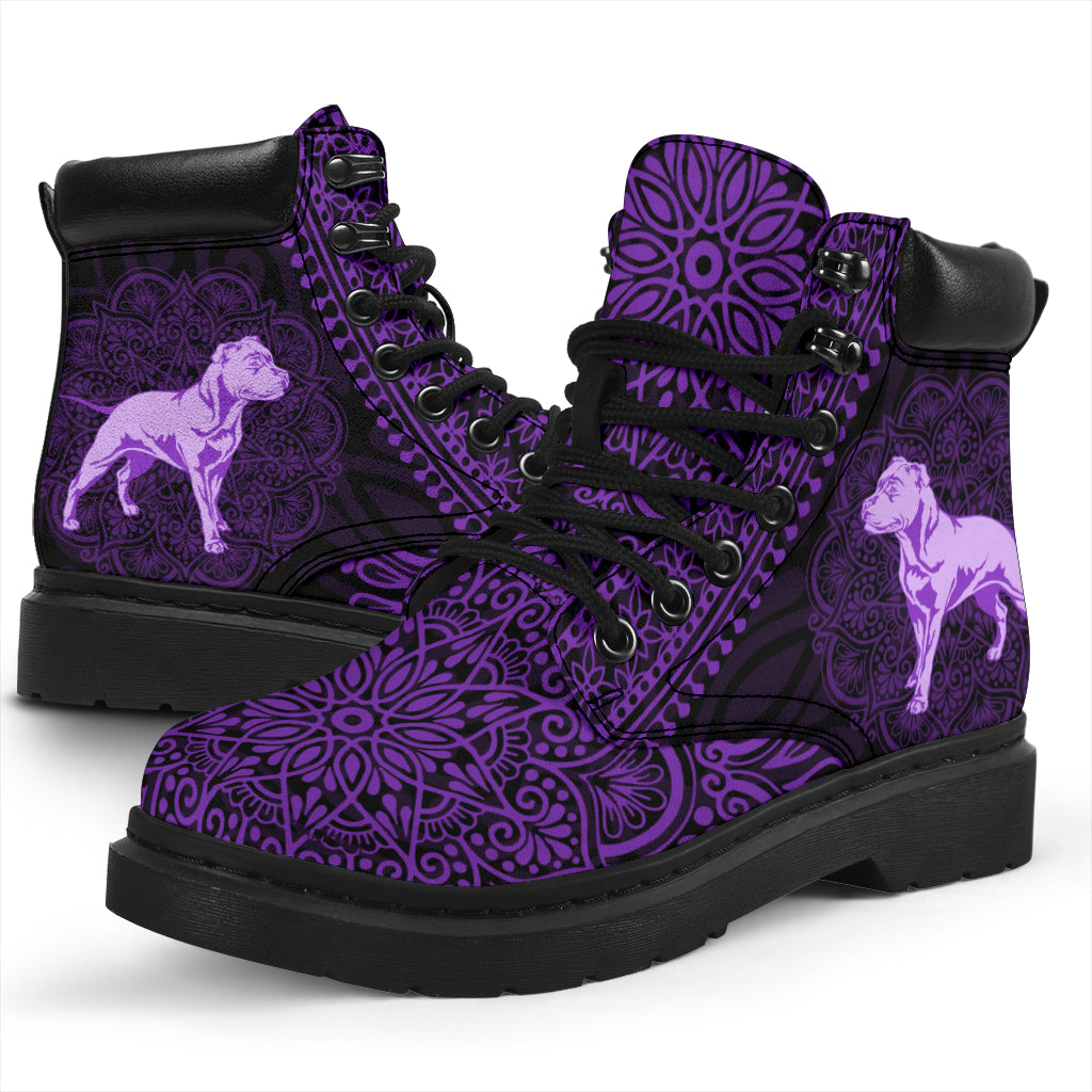 Staffordshire Bull Terrier Mandala All-Season Boots