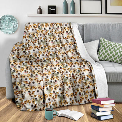 Parson Russell Terrier Full Face Blanket
