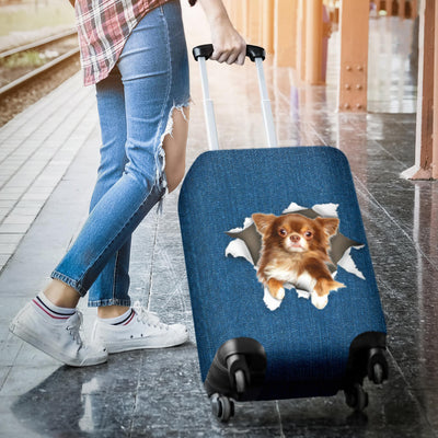 Chihuahua Torn Paper Luggage Covers