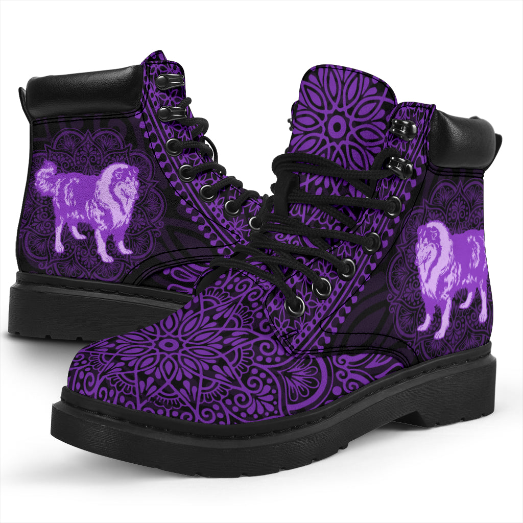 Rough Collie Mandala All-Season Boots