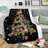 Wire Haired Dachshund Christmas Tree Blanket