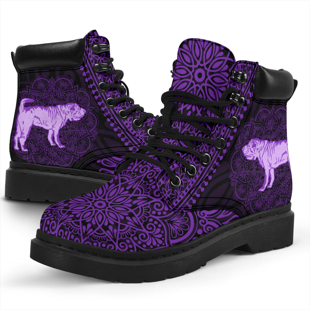 Shar Pei Mandala All-Season Boots
