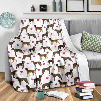 Plott Hound Heart Blanket