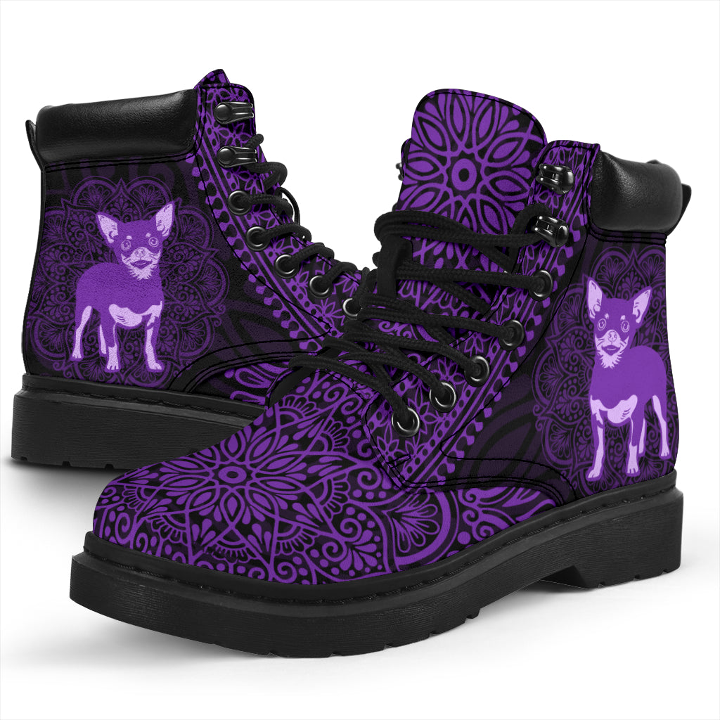 Chihuahua Mandala All-Season Boots
