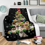 Pekingese Christmas Tree Blanket