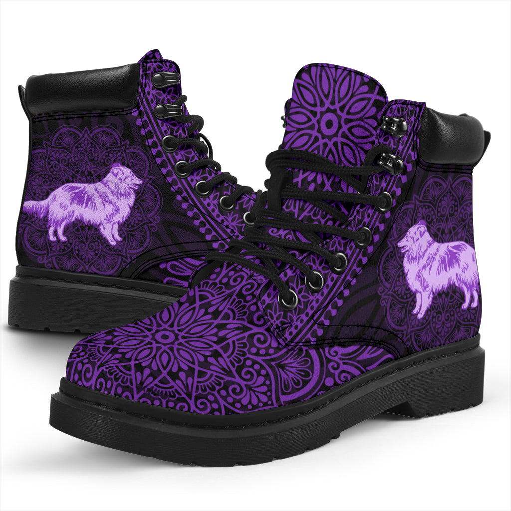 Shetland Sheepdog Mandala All-Season Boots