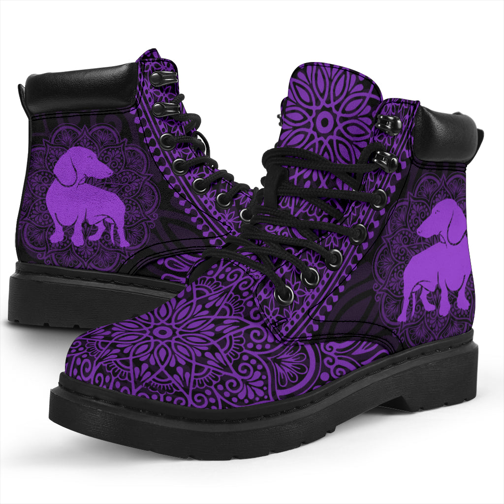 Dachshund Mandala All-Season Boots