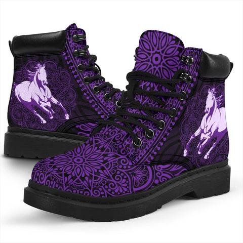 Horse Mandala All-Season Boots