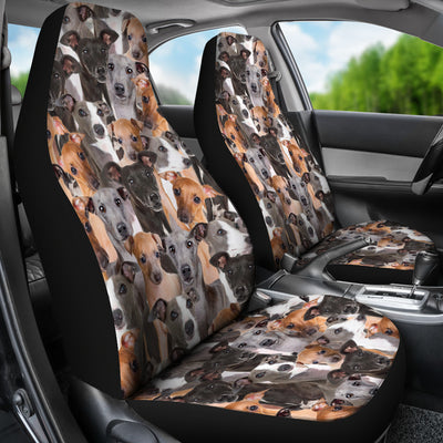 Italian Greyhound Full Face Car Seat Covers