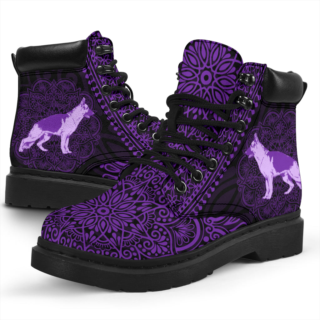 German Shepherd Mandala All-Season Boots