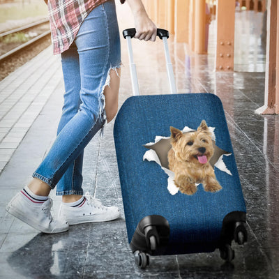Cairn Terrier Torn Paper Luggage Covers