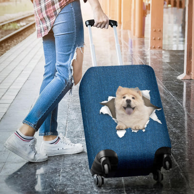 Chow Chow Torn Paper Luggage Covers