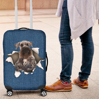 Cesky Terrier Torn Paper Luggage Covers