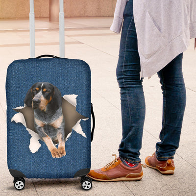 Bluetick Coonhound Torn Paper Luggage Covers