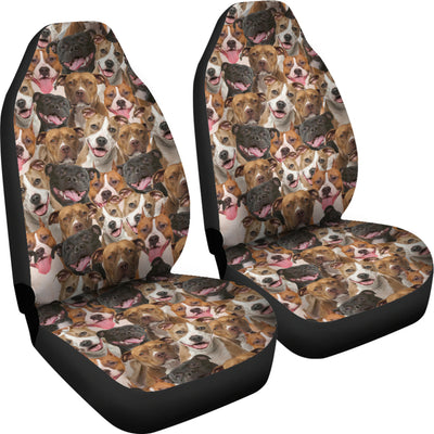 American Staffordshire Terrier Full Face Car Seat Covers