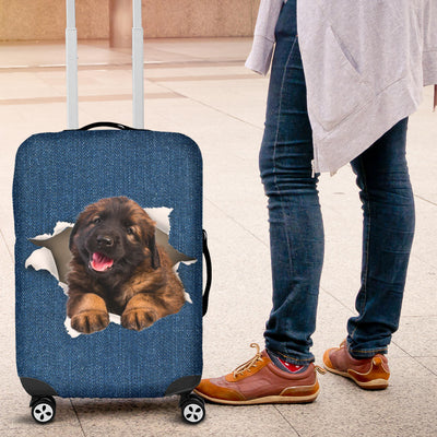 Leonberger Torn Paper Luggage Covers