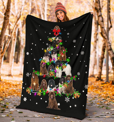 Newfoundland Christmas Tree Blanket