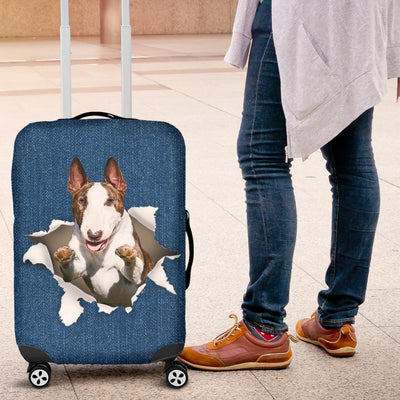 Bull Terrier Torn Paper Luggage Covers