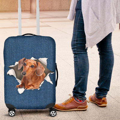 Dalmatian Torn Paper Luggage Covers